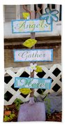 Angels Gather Here Beach Towel