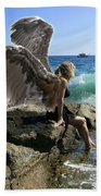 Angels- I'm Watching Over You Beach Towel
