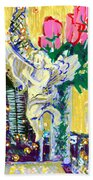 Angels With Roses Beach Towel