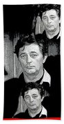 Angie Dickinson Robert Mitchum Collage Young Billy Young Set Old Tucson Arizona 1968-2013 Beach Towel