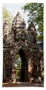Angkor Thom North Gate 01 Beach Towel