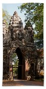 Angkor Thom North Gate 02 Beach Towel