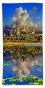 Angkor Wat Just Before Sunset Beach Towel