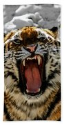 Angry Tiger Beach Towel