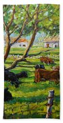Angus Cows Under The Cool Shade By Prankearts Beach Towel