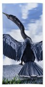 Anhinga Take Off Beach Towel