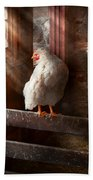 Animal - Chicken - Lost In Thought Beach Towel