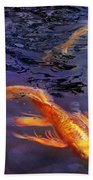 Animal - Fish - There's Something About Koi  Beach Towel by Mike Savad