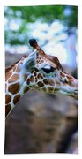 Animal - Giraffe - Sticking Out The Tounge Beach Towel