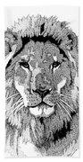 Animal Prints - Proud Lion - By Sharon Cummings Beach Towel