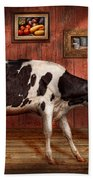 Animal - The Cow Beach Towel by Mike Savad