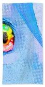Anime Girl Eyes Blue Beach Towel