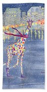 Annabelle On Ice Beach Towel by Rhonda Leonard