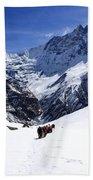 Annapurna Sanctuary Trail Beach Towel
