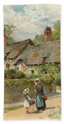 Anne Hathaway's Cottage At Shottery Beach Towel
