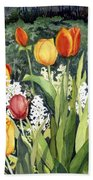 Ann's Tulips Beach Towel
