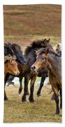 Annual Horse Round Up-laufskalarett Beach Towel