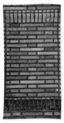 Another Brick In The Wall In Black And White Beach Towel