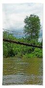Another Bridge Over River Kwai In Kanchanaburi-thailand Beach Towel