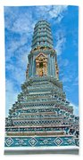 Another Stupa At Grand Palace Of Thailand In Bangkok Beach Towel