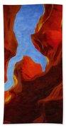 Antelope Canyon 30 Beach Towel