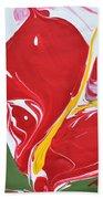 Anthurium Fire Beach Towel