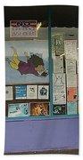 Anti-iraq War Posters 4th Avenue Book Store Window Tucson Arizona 2000 Beach Towel