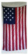 Antique American Flag Beach Towel