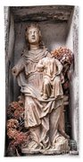 Antique Blessed Virgin Statue Beach Towel
