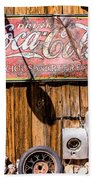 Antique Building At The Techatticup Gold Mine Beach Towel