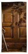 Antique Cabinet Beach Towel by Amanda Elwell