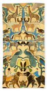 Antique Cutout Of Animals  Beach Towel