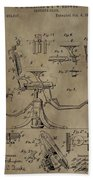 Antique Dental Chair Patent Beach Towel