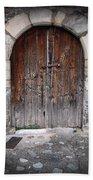 Antique Door Wood Beach Towel