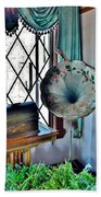 Antique Edison Phonograph In The Boardwalk Plaza Lobby - Rehoboth Beach Delaware Beach Towel