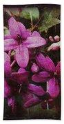 Antique Floral  Beach Towel