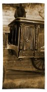 Antique Hearse As Tintype Beach Towel