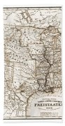 Antique Map 1853 United States Of America Beach Towel by Dan Sproul