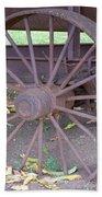Antique Metal Wheel Beach Towel