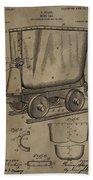 Antique Mining Trolley Patent Beach Towel