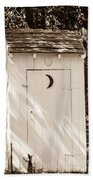 Antique Outhouse Beach Towel