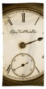 Antique Pocket Watch Beach Towel