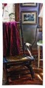 Antique Rocking Chair Beach Towel