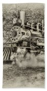 Antique Train Beach Towel