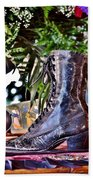 Antique Victorian Boots At The Boardwalk Plaza Hotel - Rehoboth Beach Delaware Beach Towel