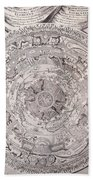 Antique Vintage Map With Elements Beautiful Beach Towel