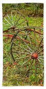 Antique Wagon Frame Beach Towel