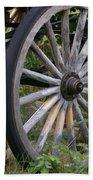 Antique Wagon Wheel  Beach Towel