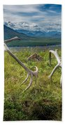 Antlers On The Hill Beach Towel