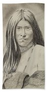 Apache Girl 1906 Beach Towel
